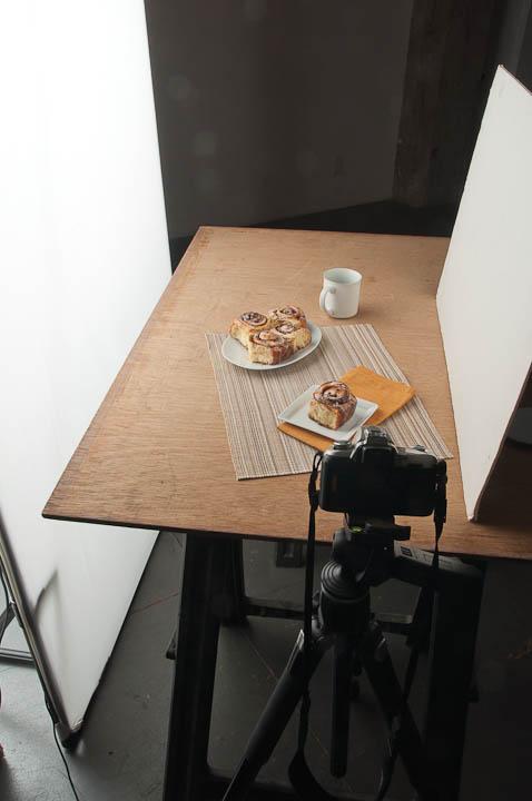 Cinnamon Rolls photo shoot