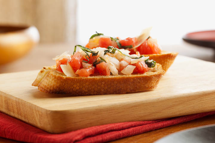 Bruschetta for food photography