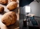 Perfect baked potato shot with hard light