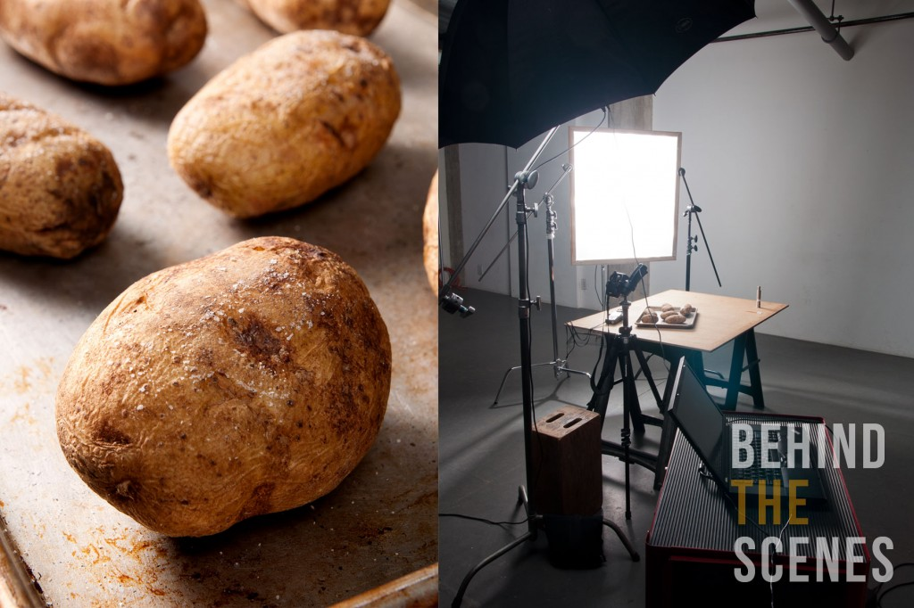 Perfect baked potato with hard light diagram