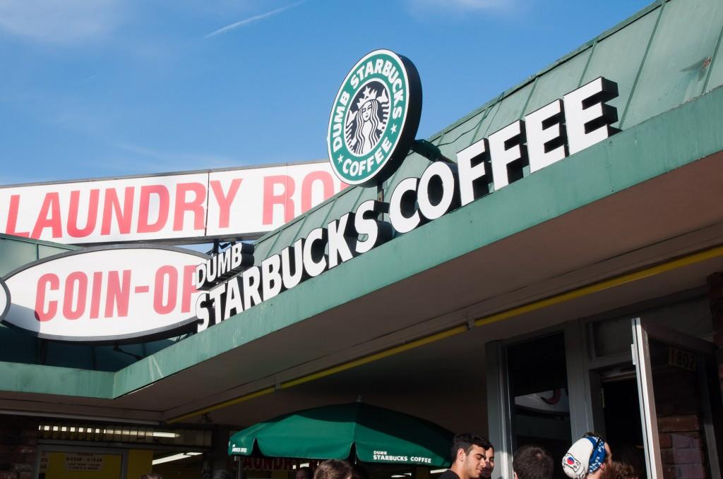 Dumb Starbucks Coffee: a parody store in LA.
