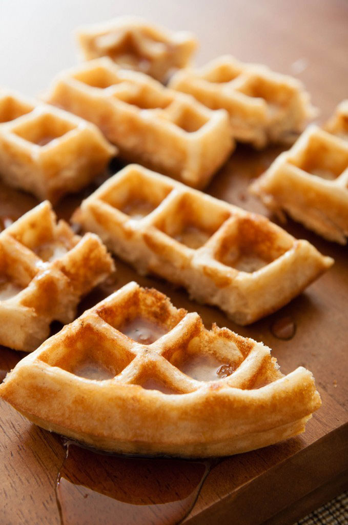 They're called Waffles of Insane Greatness for a reason. Crispy and fluffy waffles by I bake he shoots | ibakeheshoots.com