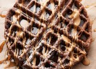 Dark Chocolate Waffles by I bake he shoots: an chocolate alternative for breakfast that's not overly sweet.