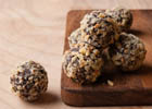 Vegan Chocolate Avocado Truffles: a creamy chocolate dessert that's healthy and gluten-free.   ibakeheshoots.com