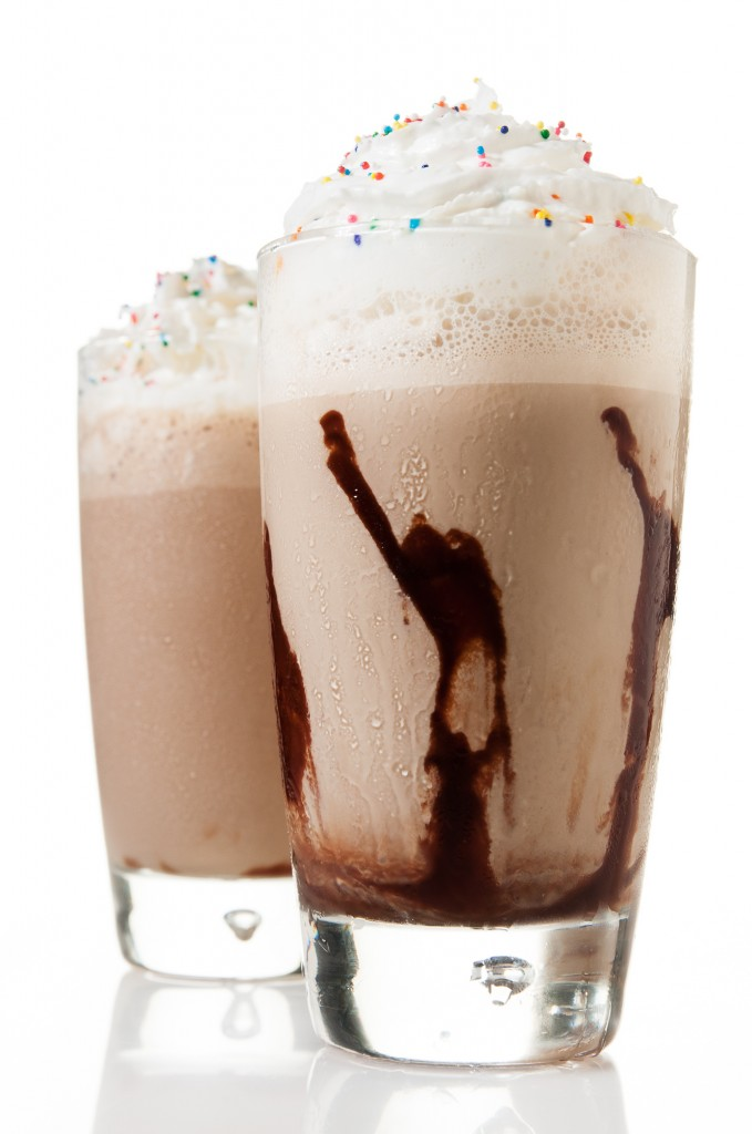 Guinness Affogato: an adult shake made with Guinness, coffee ice cream and topped with whip cream by ibakeheshoots.com.