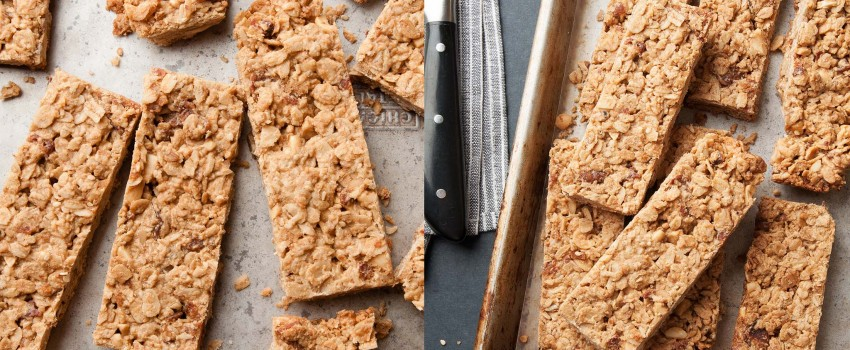 Pack your lunches with these protein-filled Peanut Butter Maple Bacon Granola Bars by ibakeheshoots.com