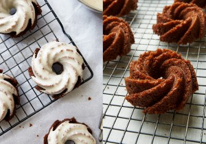 Mini Gingerbread Bundt Cakes: a moist and lightly spiced cake-the perfect dessert to start your holiday season | ibakeheshoots.com
