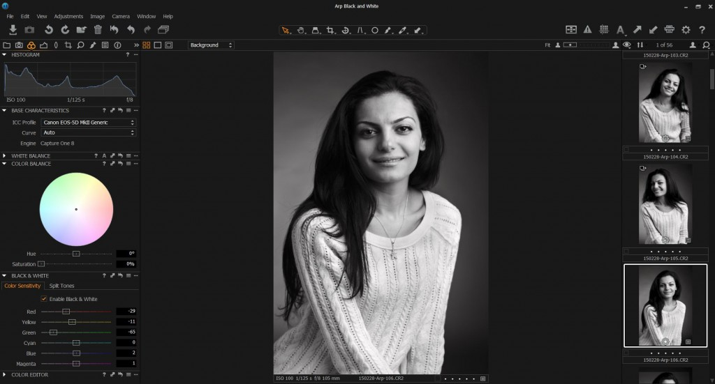 Capture One Pro 8 Workspace