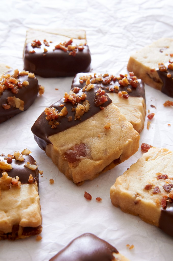 If you like crispy bacon and chocolate-dipped cookies, try this Maple Bacon Shortbread. It's like breakfast and dessert rolled into one. ibakeheshoots.com
