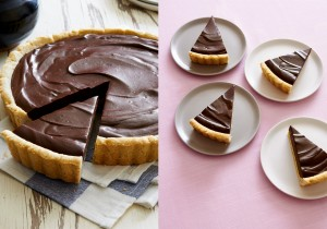 Impress your dinner guests with this easy and elegant dark chocolate lavender tart.| ibakeheshoots.com