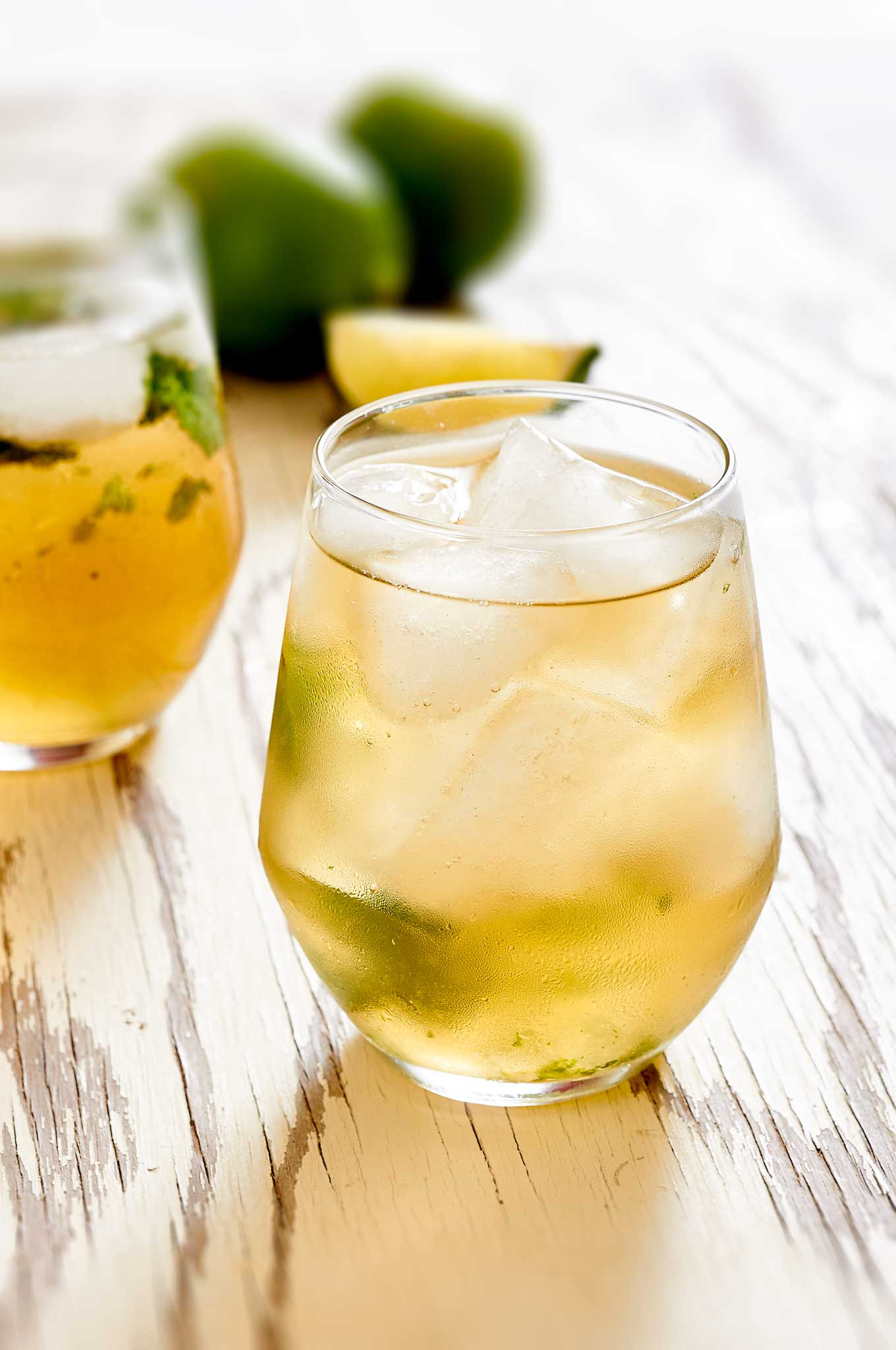 With muddled basil, bourbon and ginger beer, the Basil Kentucky Mule has got a nice kick to it. | ibakeheshoots.com