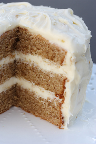 Chai Cake with Ginger Honey Cream