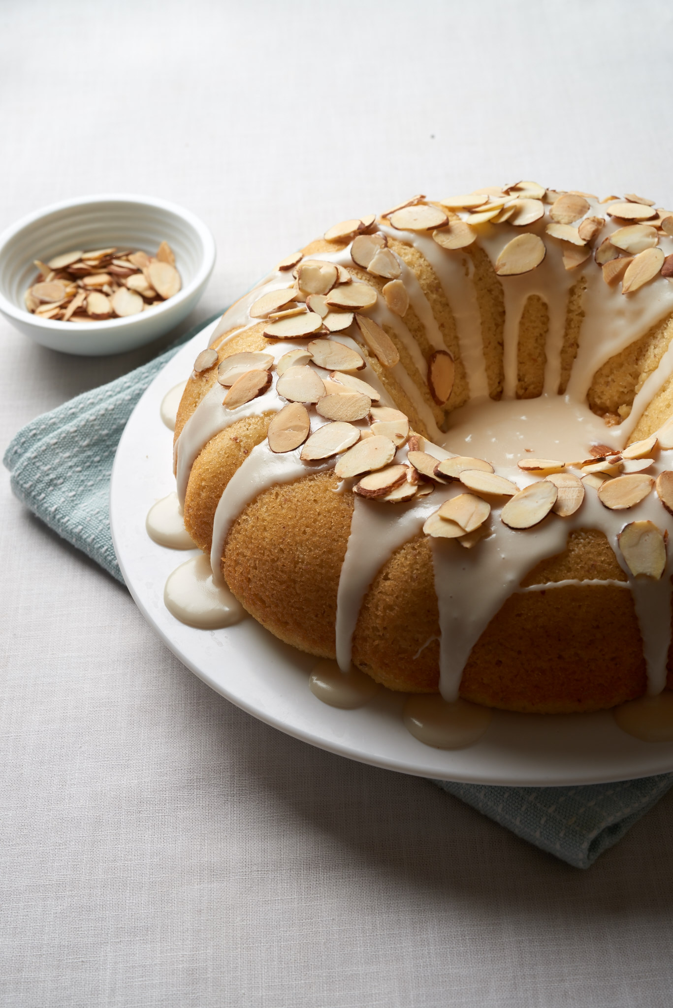 Almond Bundt Cake with an Amaretto glaze. | ibakeheshoots.com