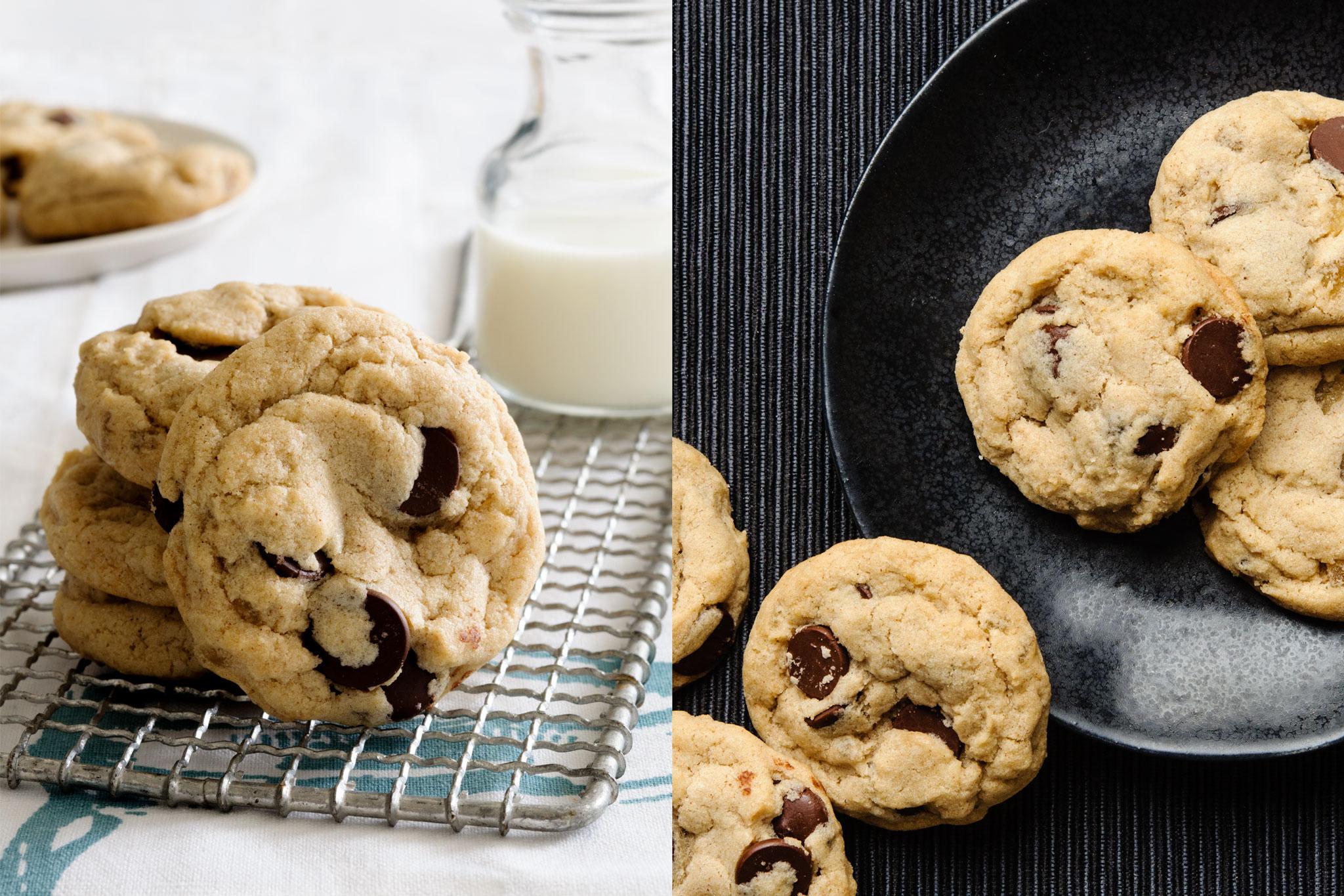 Vegan Ginger Chocolate Chip Cookies