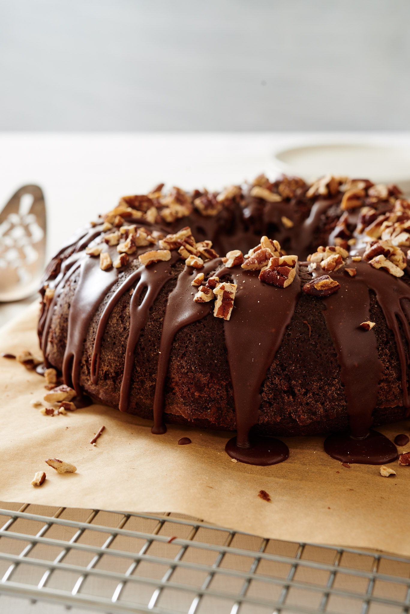You've had it as a sheet cake. Now try it as a Coca Cola Bundt Cake; it does not disappoint. | ibakeheshoots.com