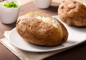 Perfect Baked Potato made with Alton Brown's recipe